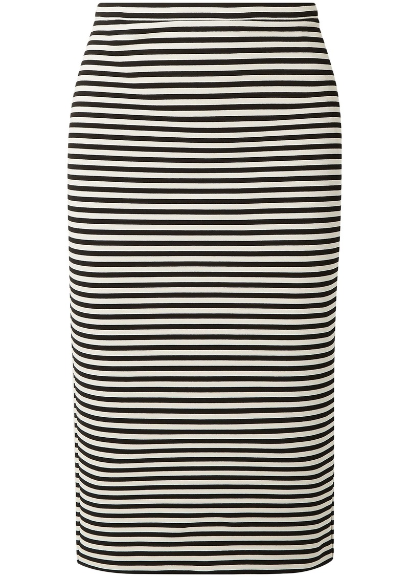 Max Mara Woman Egoista Striped Stretch-knit Pencil Skirt Black