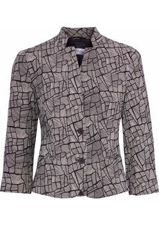 Max Mara Woman Ellisse Cotton-blend Jacquard Jacket Taupe