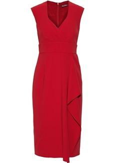 Max Mara Woman Elvy Draped Crepe Dress Red