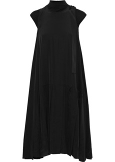 Max Mara Woman Embellished Silk Crepe De Chine Dress Black