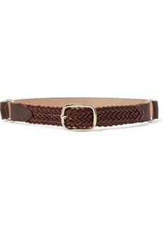 Max Mara Woman Ermanna Braided Leather Belt Brown