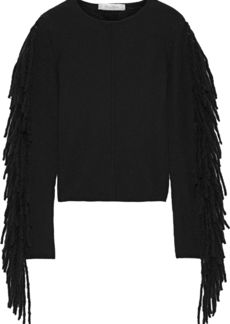 Max Mara Woman Esordio Fringed Cashmere Sweater Black