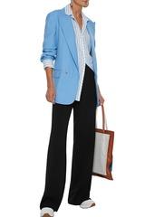 Max Mara Woman Estense Cady Straight-leg Pants Black