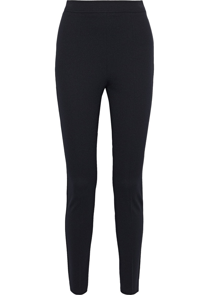 Max Mara Woman Finnici Stretch-twill Leggings Black
