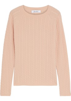 Max Mara Woman Fleur Cable-knit Cashmere Sweater Pastel Orange