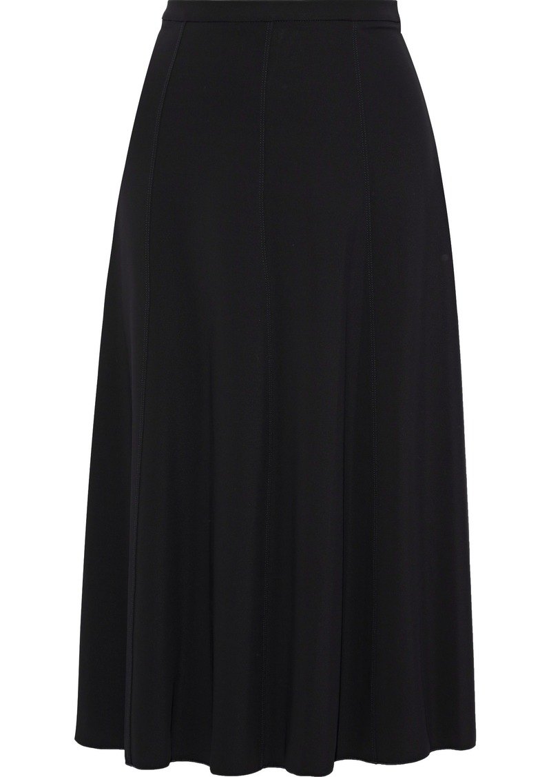 Max Mara Woman Fluted Cady Midi Skirt Black