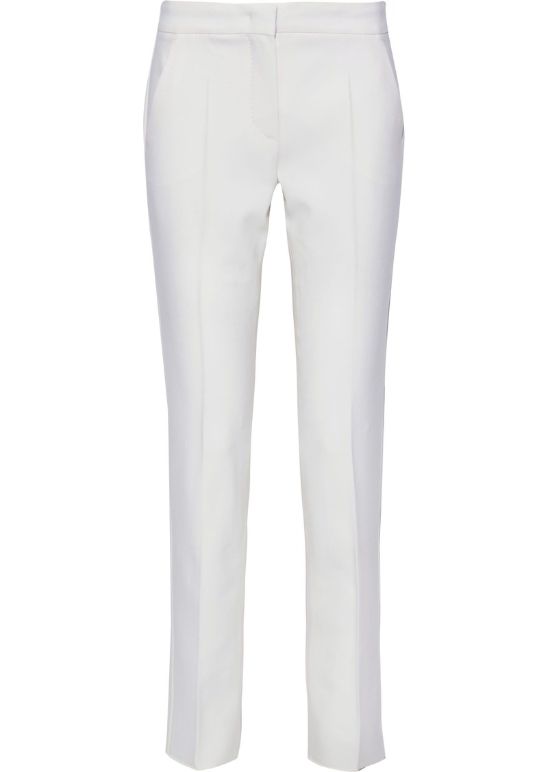 Max Mara Woman Gaeta Stretch-wool Cady Slim-leg Pants White