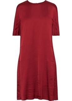 Max Mara Woman Gathered Satin-crepe Dress Claret