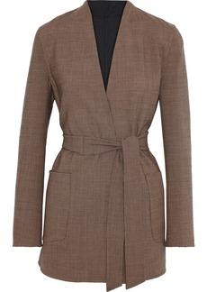 Max Mara Woman Geisha Reversible Houndstooth Wool-blend Jacket Light Brown