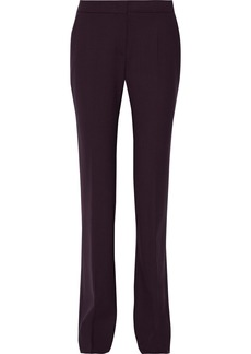 Max Mara Woman Gersa Stretch-wool Bootcut Pants Plum