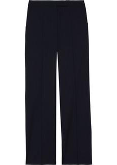 Max Mara Woman Gigilio Pinstriped Wool Straight-leg Pants Midnight Blue