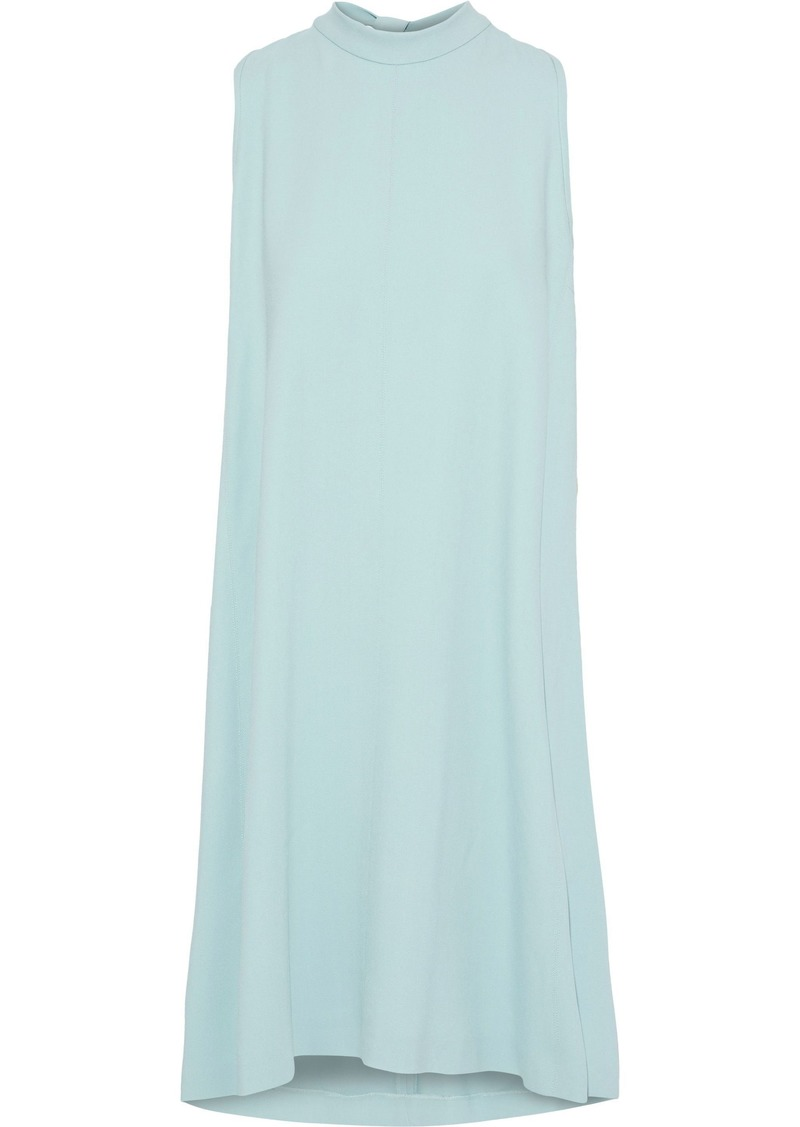 Max Mara Woman Ginseng Draped Stretch-crepe Dress Sky Blue