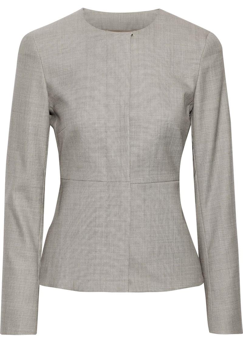 Max Mara Woman Giochi Wool-blend Jacket Stone