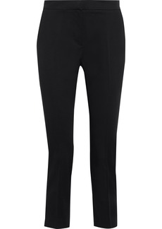 Max Mara Woman Guglia Cropped Cotton-blend Slim-leg Pants Black