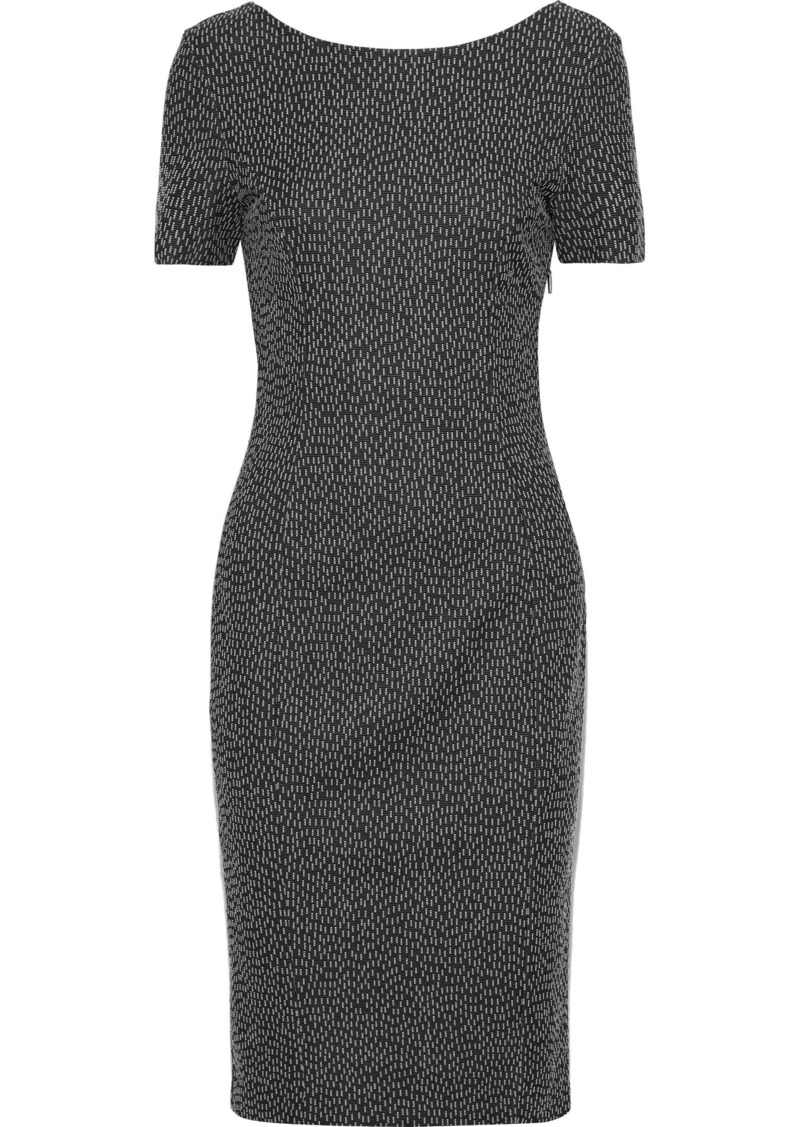 Max Mara Woman Jacquard-knit Dress Black