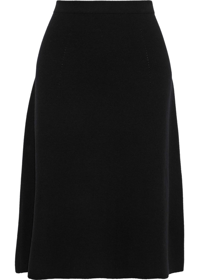 Max Mara Woman Jana Wool-blend Skirt Black