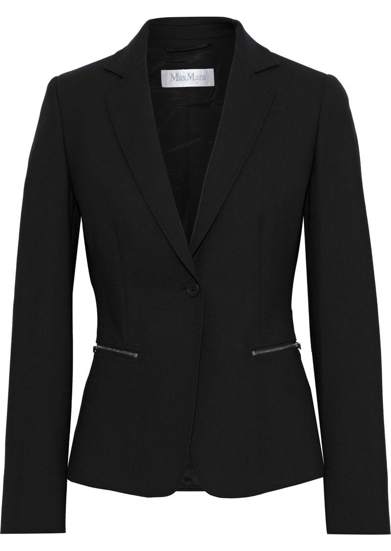 Max Mara Woman Kansas Wool-blend Blazer Black