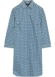 Max Mara Woman Karim Printed Cotton-poplin Mini Shirt Dress Blue