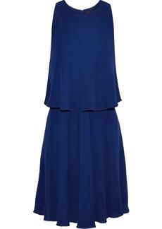 Max Mara Woman Layered Crepe Dress Royal Blue