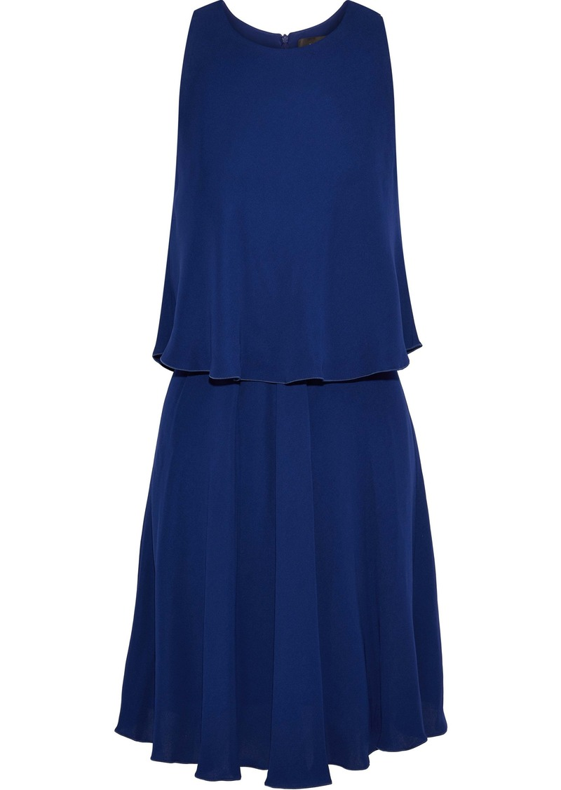 Max Mara Woman Layered Crepe Dress Royal Blue