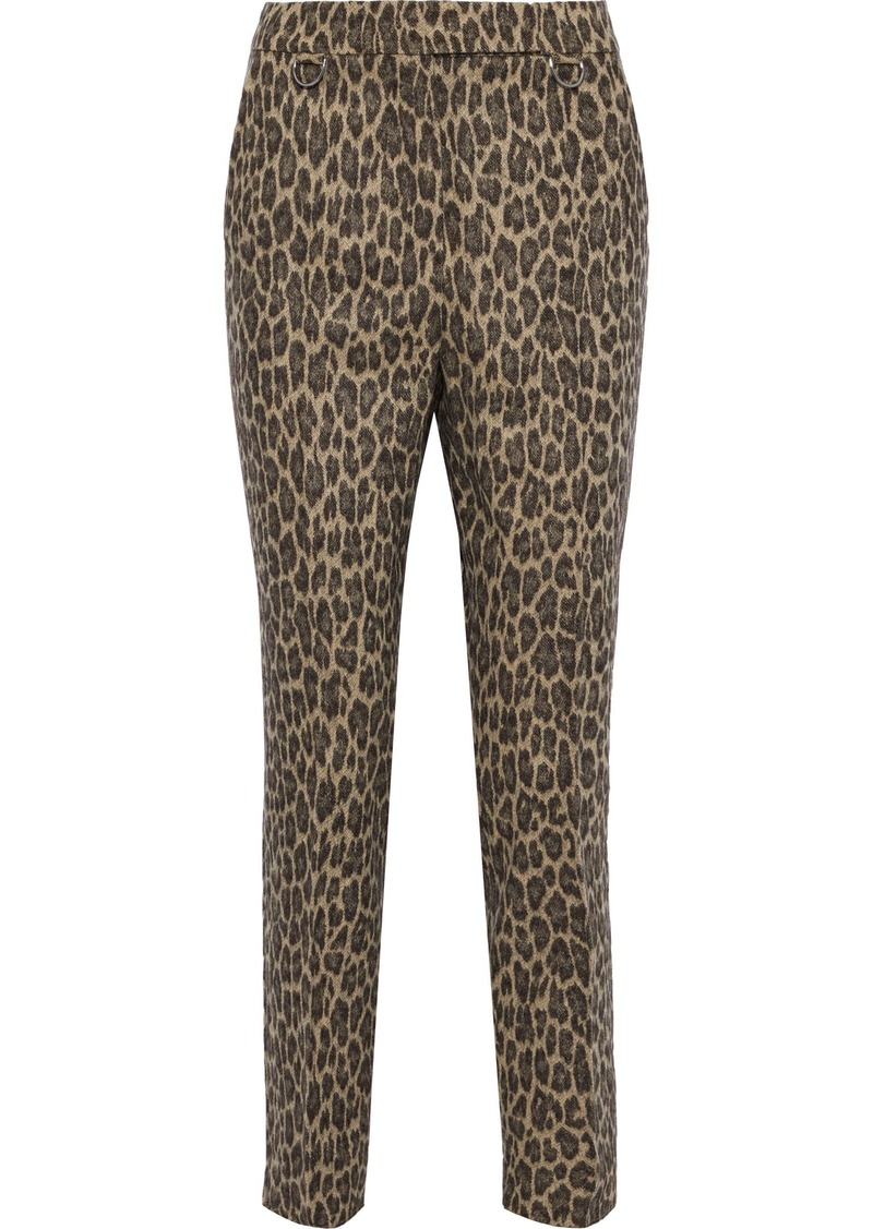 Max Mara Woman Leopard-print Wool-blend Tapered Pants Animal Print