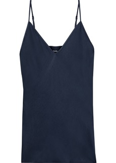 Max Mara Woman Lucca Washed Silk-blend Camisole Midnight Blue