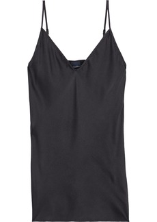 Max Mara Woman Lucca Washed Silk-blend Camisole Black