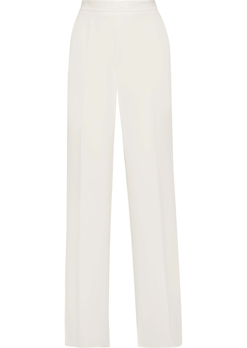 Max Mara Woman Luglio Crepe De Chine Wide-leg Pants Off-white