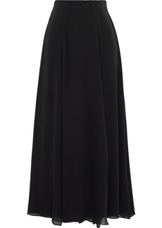 Max Mara Woman Margie Georgette Midi Skirt Black