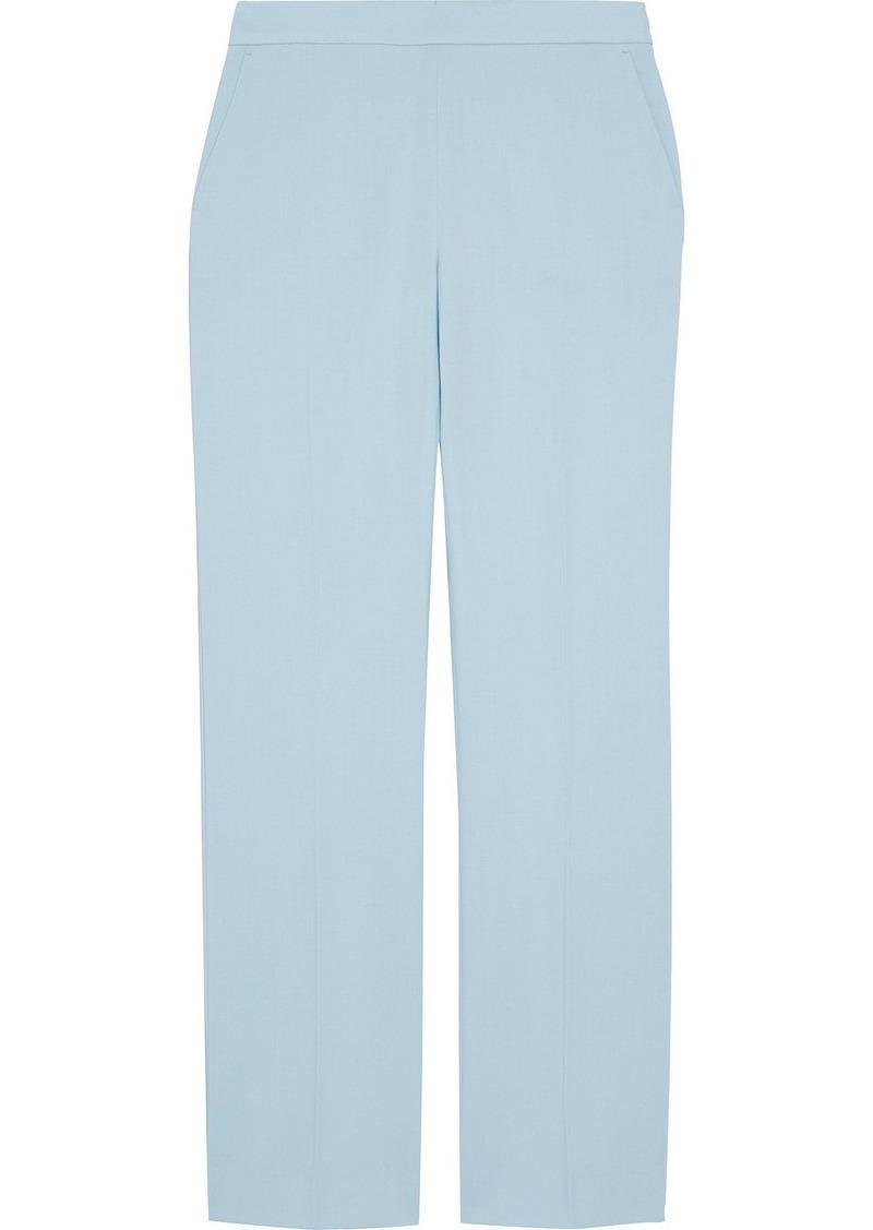 Max Mara Woman Musa Wool-cady Straight-leg Pants Sky Blue