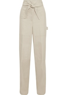 Max Mara Woman Nepal Cotton-twill Wide-leg Pants Cream