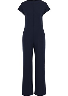 Max Mara Woman Ocroma Stretch-crepe Wide-leg Jumpsuit Midnight Blue