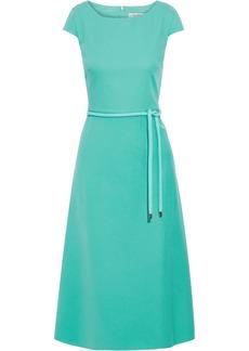 Max Mara Woman Opunzia Belted Cotton-cady Dress Light Green