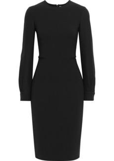Max Mara Woman Ottelia Silk Crepe-paneled Stretch-wool Dress Black