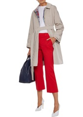 Max Mara Woman Ozio Cropped Stretch-cotton Twill Straight-leg Pants Red