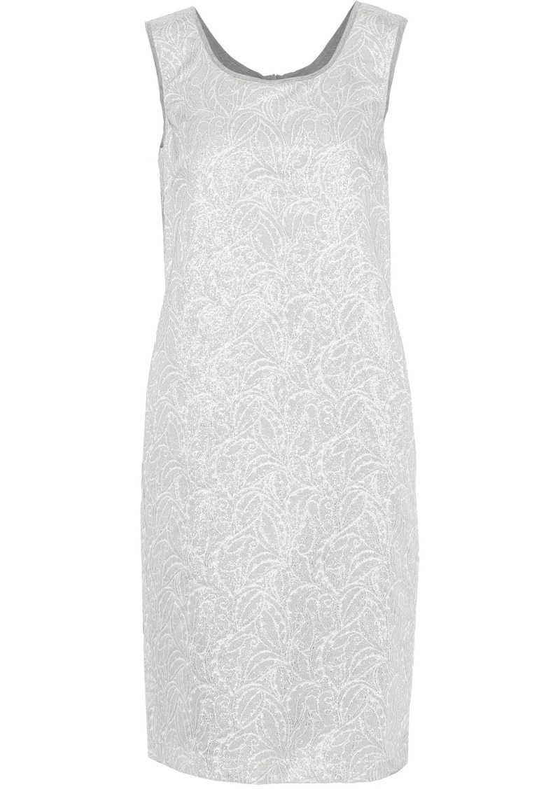 Max Mara Woman Pala Brocade Dress Silver