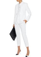Max Mara Woman Papy Cropped Cotton-blend Straight-leg Pants White