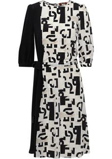 Max Mara Woman Peana Asymmetric Printed Silk Dress Off-white