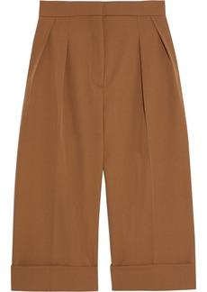 Max Mara Woman Pesca Pleated Wool-twill Shorts Light Brown