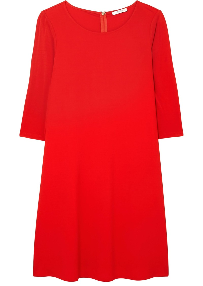 Max Mara Woman Pigna Stretch-jersey Dress Red
