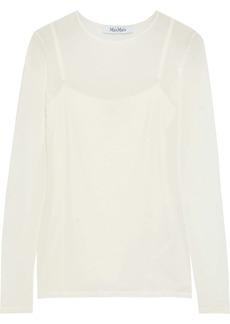Max Mara Woman Playa Jersey Top White