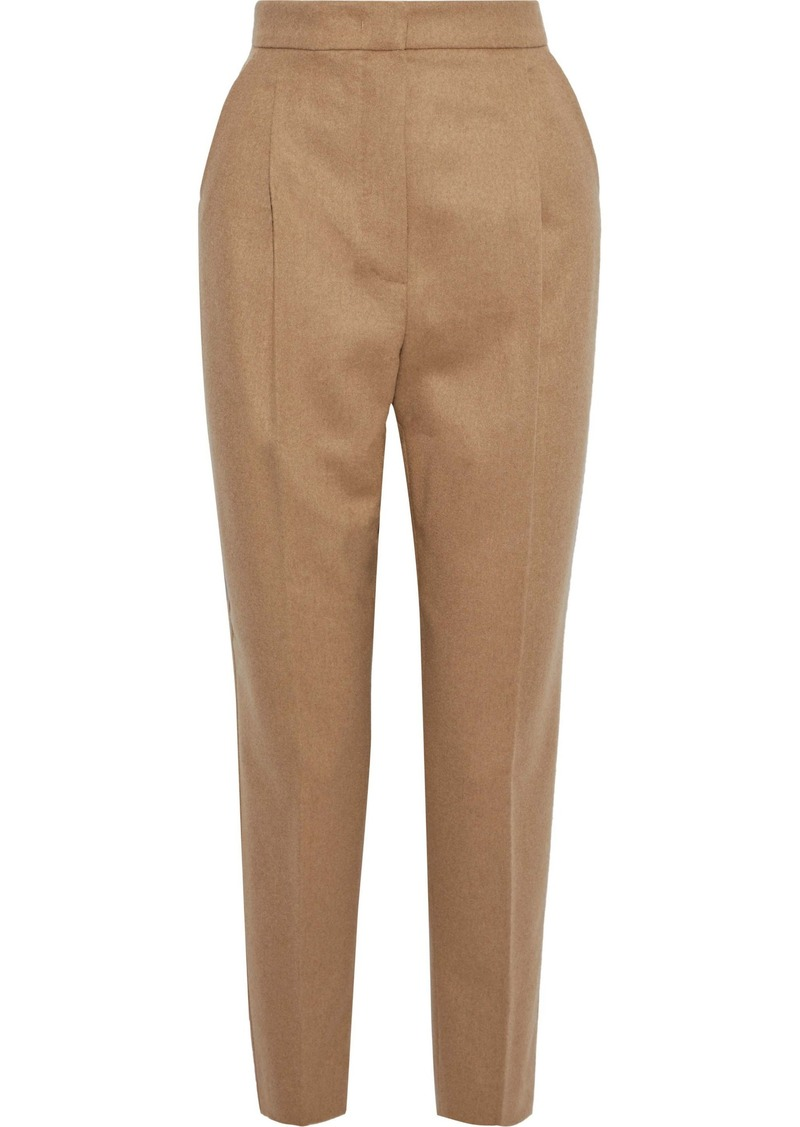 Max Mara Woman Pleated Camel Hair Tapered Pants Camel
