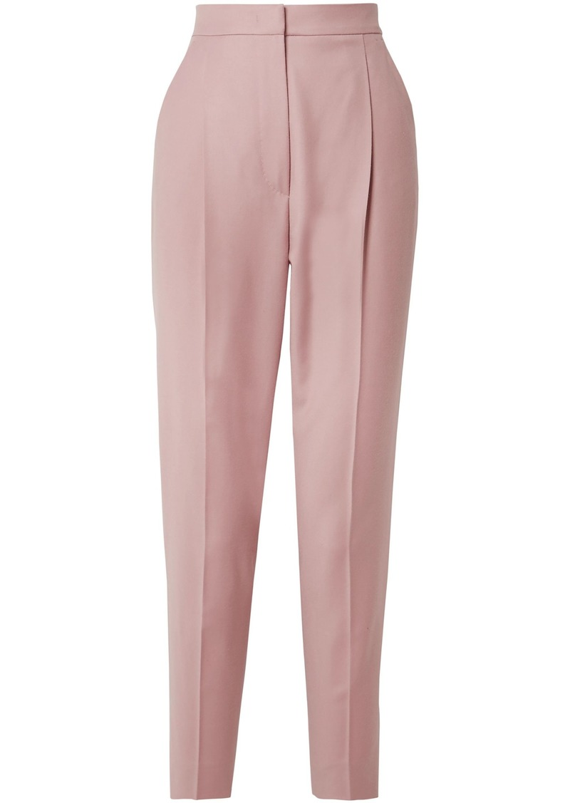 Max Mara Woman Pleated Wool Tapered Pants Blush