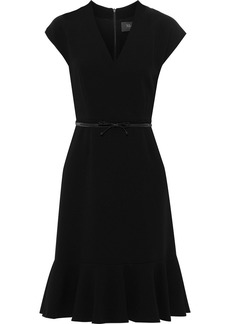 Max Mara Woman Porta Belted Crepe Dress Black