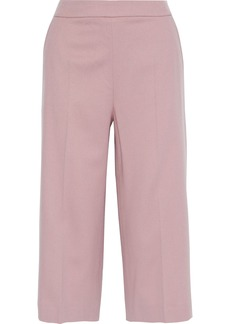 Max Mara Woman Recco Cropped Camel Hair Wide-leg Pants Antique Rose