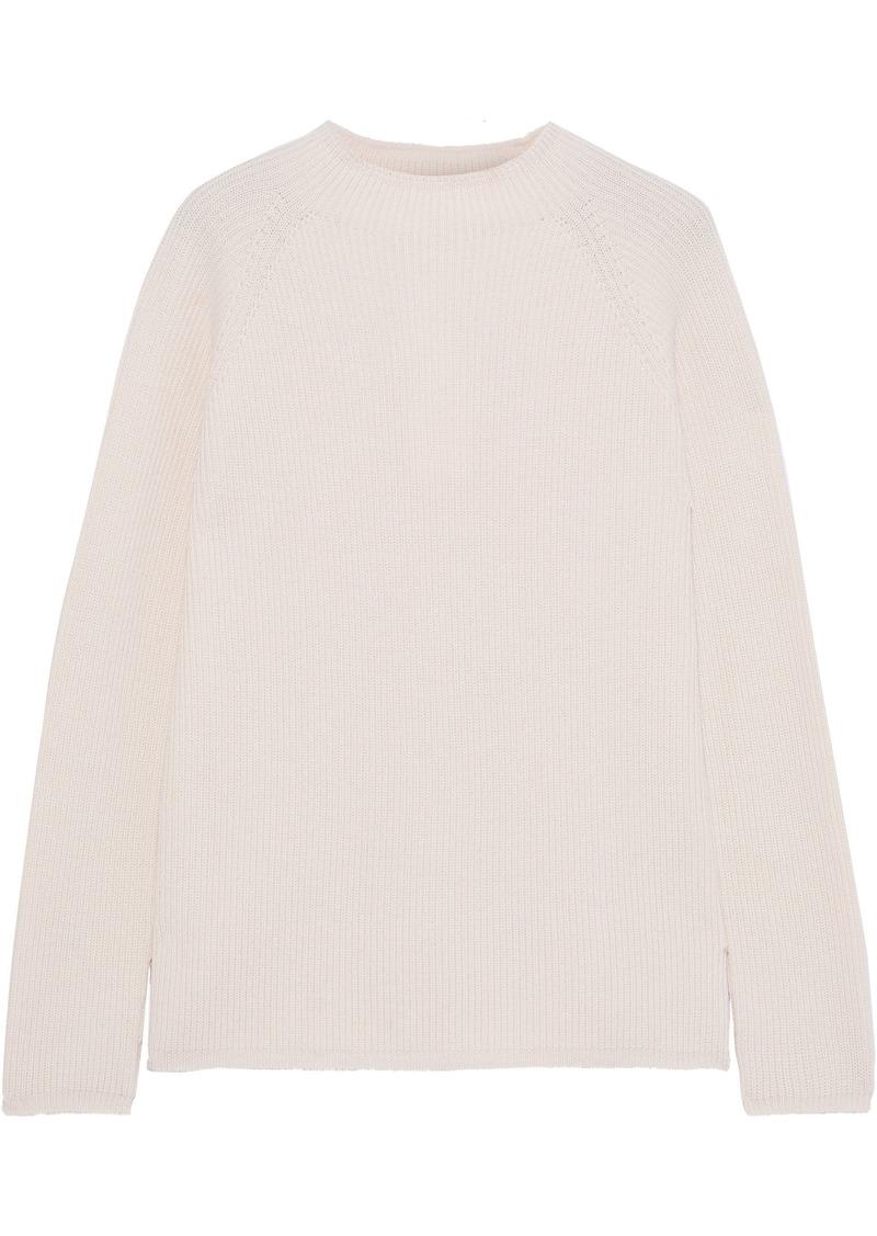 Max Mara Woman Ribelle Ribbed Wool Sweater Blush