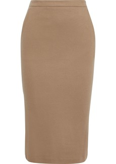Max Mara Woman Rinalda Wool-jersey Pencil Skirt Light Brown