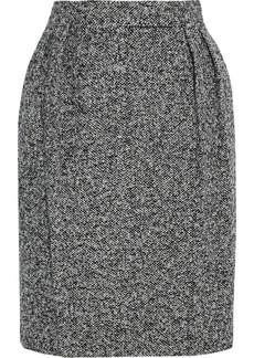 Max Mara Woman Rosita Pleated Mélange Wool-blend Mini Skirt Black