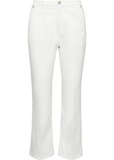 Max Mara Woman Scozia Cropped Cotton-blend Twill Bootcut Pants White