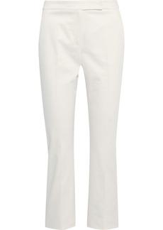 Max Mara Woman Cropped Cotton-blend Straight-leg Pants White